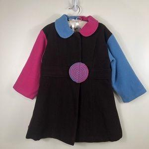 Coco Bon Bons Girls Candy Wool Snap Closer Pea Coat